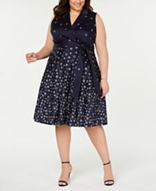 Anne Klein Plus Size Floral-Print A-Line Dress