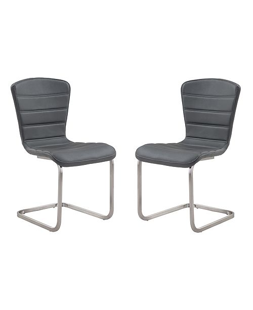 Armen Living Cameo Side Chair (Set of 2), Quick Ship