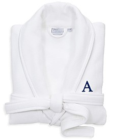 Personalized 100% Turkish Cotton Waffle Terry Bathrobe with Satin Piped Trim Collection