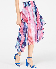 INC Smocked Ruffled Midi Skirt, Created for Macy's