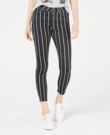 Tinseltown Juniors' Striped Skinny Jeans
