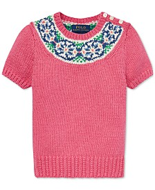Polo Ralph Lauren Little Girls Fair Isle Cotton Sweater