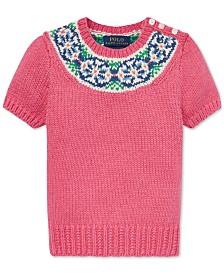 61ae213eb77 Polo Ralph Lauren Little Girls Fair Isle Cotton Sweater