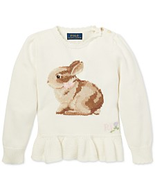 Polo Ralph Lauren Toddler Girls Intarsia-Knit Sweater