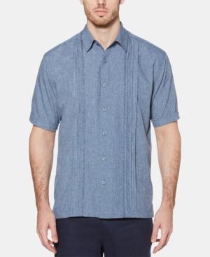Men's Geo Print Embroidered Shirt
