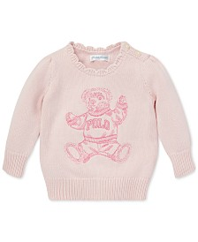 Polo Ralph Lauren Baby Girls Polo Bear Cotton Sweater