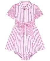 286bc0cccf4 Polo Ralph Lauren Baby Girls Striped Cotton Dress