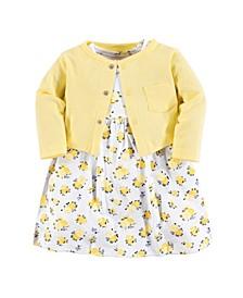 Baby Girl Dress and Cardigan, 2-Piece Set