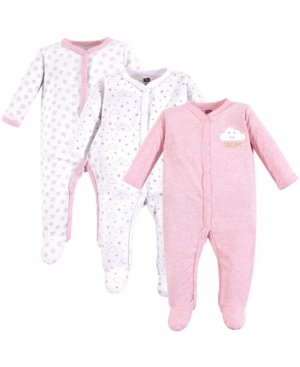 Baby Vision 0-9 Months Unisex Hudson Baby Baby Coveralls/Union Suits and Sleep and Play, 3-Pack