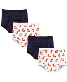 Baby Girls and Baby Boys Training Pants, 4-Pack