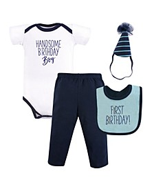 Baby Vision 12 Months Unisex Baby First Birthday Outfit, 4 Piece