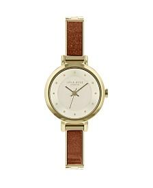 "Lola Rose ""Stability"", Ladies, Genuine gold Sandstone Stone Semi Bangle Bracelet, 26 MM"