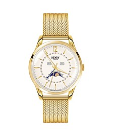Westminster Unisex 39mm Gold Stainless Steel Mesh Bracelet Watch with Gold Stainless Steel Casing
