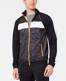 Men's Camo Colorblocked Track Jacket, Created for Macy's