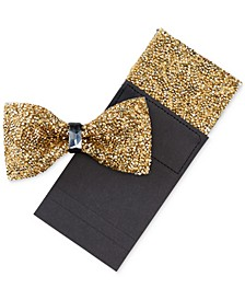 Men's Bling Bow Tie & Pocket Square