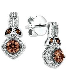 Chocolatier® Geometric Diamond Drop Earrings (3/4 ct. t.w.) in 14k White Gold