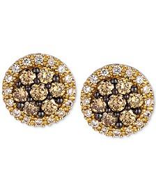 Chocolatier® Diamond Halo Stud Earrings (5/8 ct. t.w.) in 14k Gold