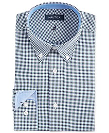 Men's Classic/Regular Fit Comfort Stretch Wrinkle Free Tattersall Dress Shirt