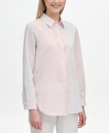 Calvin Klein Multi-Stripe Boyfriend Shirt