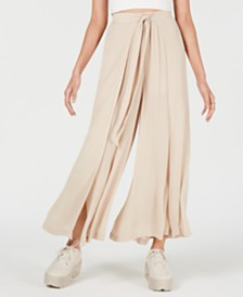 Cotton Candy Wide-Leg Tulip-Hem Pants