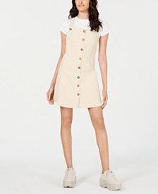 Socialite Corduroy Pinafore Dress