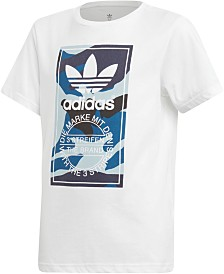 adidas Originals Big Boys Camo-Print Logo T-Shirt