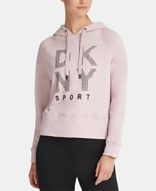 DKNY Sport Studded-Logo Hoodie, Created for Macy's