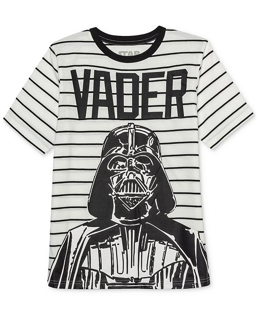 Star Wars Big Boys Darth Vader Influencer Stripe T-Shirt