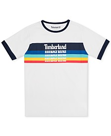 Timberland Big Boys Derryfield Logo Ringer T-Shirt