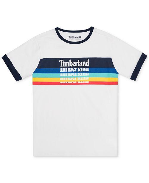 Timberland Big Boys Derryfield Logo Ringer T-Shirt