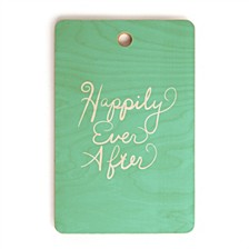 Happily Ever After Aquamint Rectangle Cutting Board