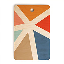 Deny Designs Fimbis Summers End Geometry Rectangle Cutting Board