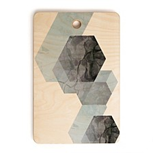 Neutral Marble Geometry Rectangle Cutting Board