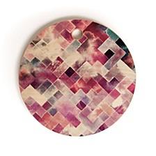 Moody Geometry Pink Round Cutting Board