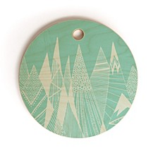 Patterns In the Mountains Round Cutting Board