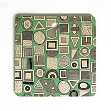 Frisson Memphis Green Square Cutting Board