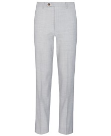 Lauren Ralph Lauren Big Boys Stretch Light Gray Suit Pants