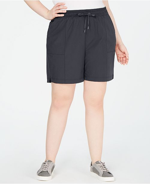 Ideology Plus Size Woven Shorts, Created for Macy's