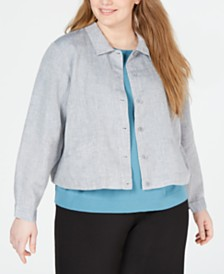 Eileen Fisher Plus Size Organic Jacket