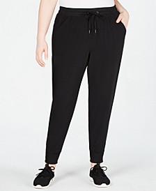 Plus Size Recycled Woven Joggers, Created for Macy's