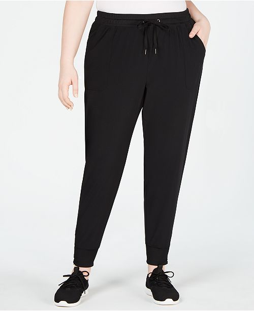 a2e74328f06 Ideology Plus Size Recycled Woven Joggers