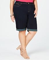 a5b716149d788 I.N.C. Plus Size Casual Bermuda Jean Shorts