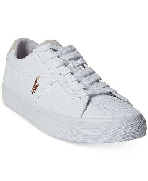 best place for Good Prices great discount Polo Ralph Lauren Men's Sayer Canvas Sneakers & Reviews ...