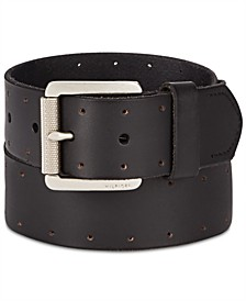 Tommy Hilfiger Men's Perforated Casual Leather Belt