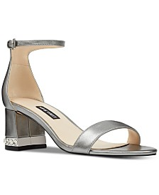 Nine West Hazel Embellished Block-Heel Sandals