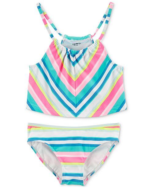 Carter's Little & Big Girls 2-Pc. Striped Swimsuit