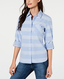Tommy Hilfiger Cotton Striped Utility Shirt