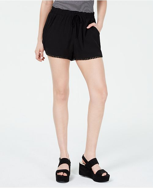 Be Bop Juniors' Pompom-Trimmed Soft Shorts