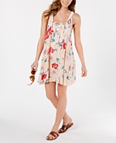 a89b2d5b36118 Roxy Printed Lace-Up Dress Cover-Up
