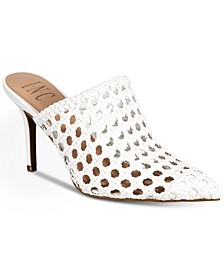 INC Women's Celestia Woven Mules, Created for Macy's